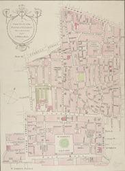 A correct plan of the parish of St James's, Westminster